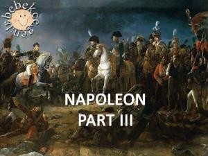 İngilizce resimli okuma parçası Napoleon Part III