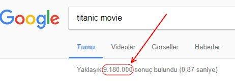 Titanik filmi için İngilizce arama sonuçları: