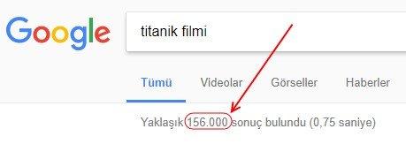 Titanik filmi için Türkçe arama sonuçları: